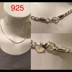 Other - Men 925 Necklace Bracelet Jewelry Set